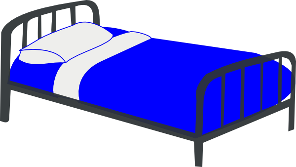 2 Twin Beds free clipart.
