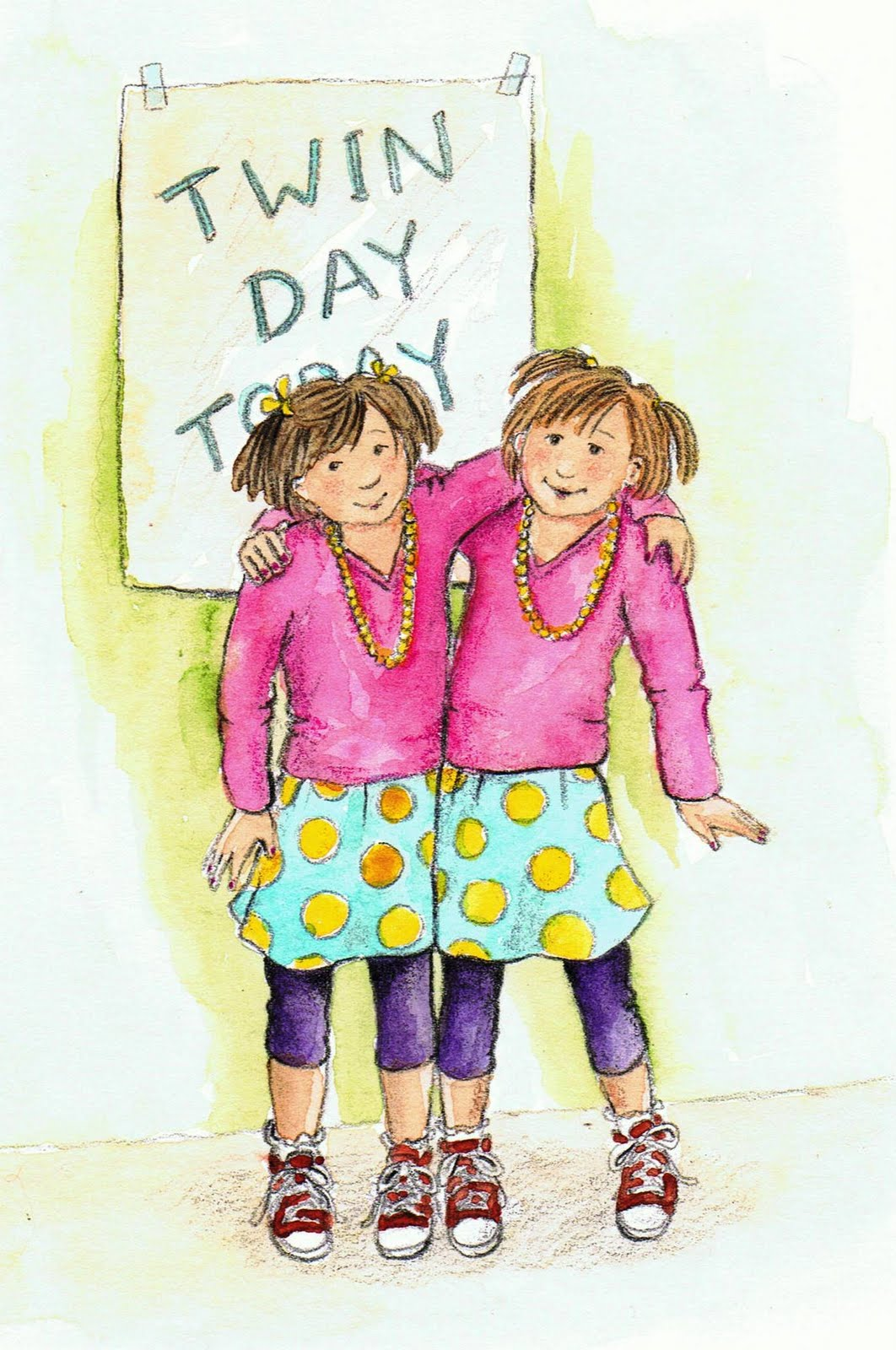 Twin Dress Day: School Spirit Dress Up Week.