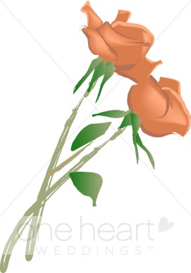 Twin Roses Clipart.