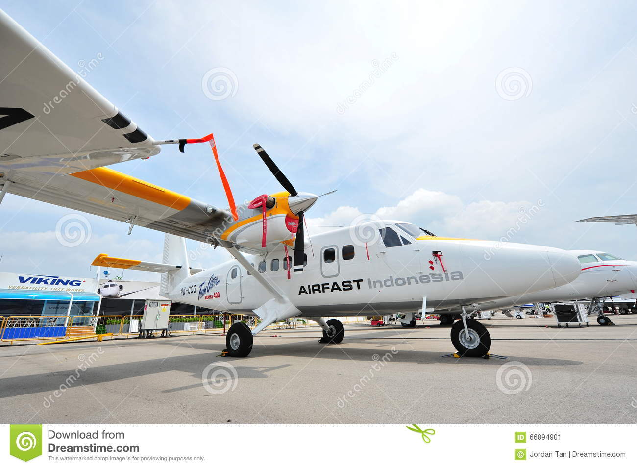 Airfast Indonesia Viking's Twin Otter Series 400 Aircraft On.