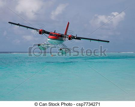 Stock Photography of Twin Otter Take Off.