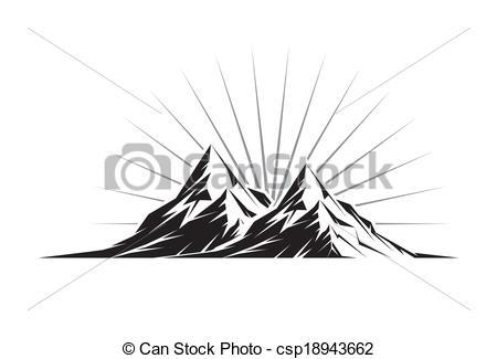 Clip Art Vector of Twin Peaks.