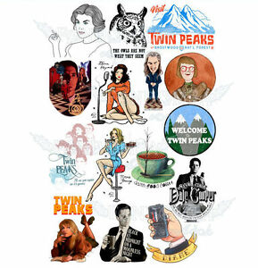 Details about Twin Peaks Dale Cooper Laura Palmer Donna Hayward A4 stickers  set decals.