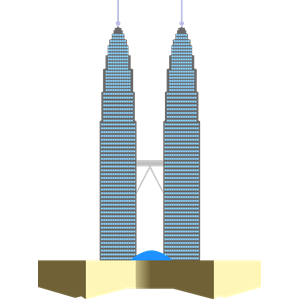 Petronas Twin Towers clipart, cliparts of Petronas Twin.