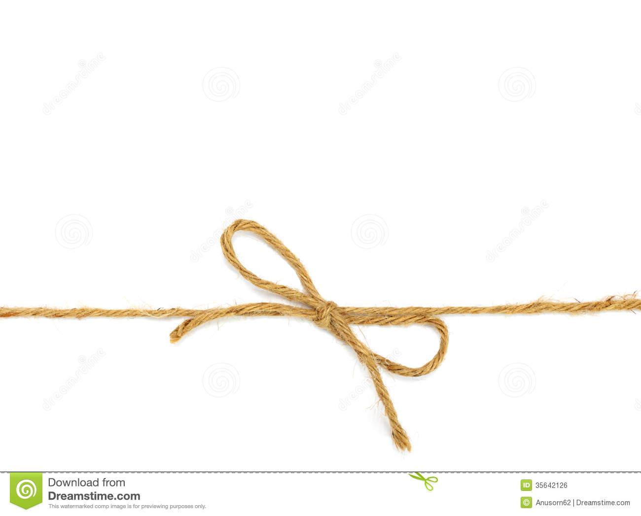 Twine Bow Clipart.