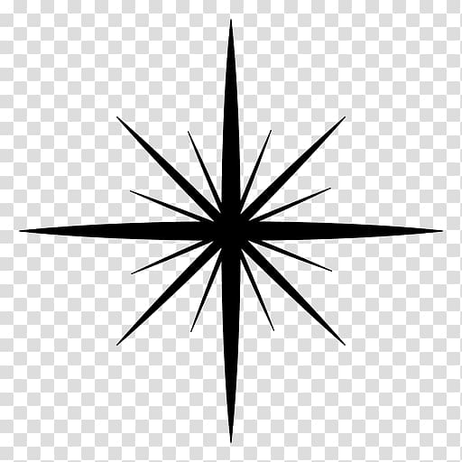 Triangle Monochrome Circle, twinkle transparent background.