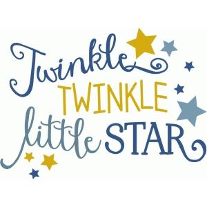 Twinkle Twinkle Little Star Silhouette.