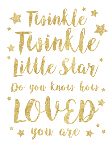 Twinkle Twinkle Little Star Theme Printable Posters.