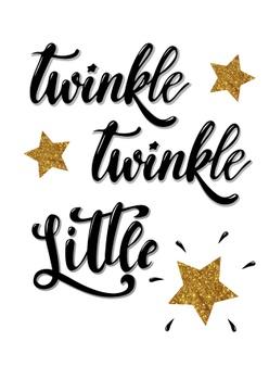 twinkle twinkle little star\' card, banner, poster design.