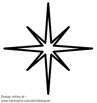 Twinkling star clipart.