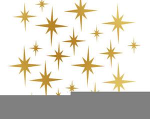 Free Twinkling Stars Clipart.