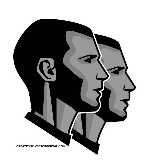 Twin brother vector image..