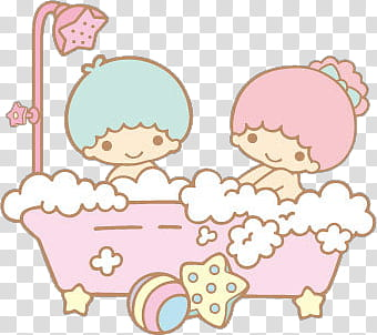 twins in a basket clipart #2