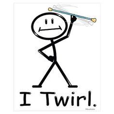 Twirling baton clipart.