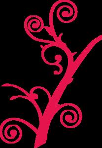 Twirl Dark Pink Clip Art at Clker.com.