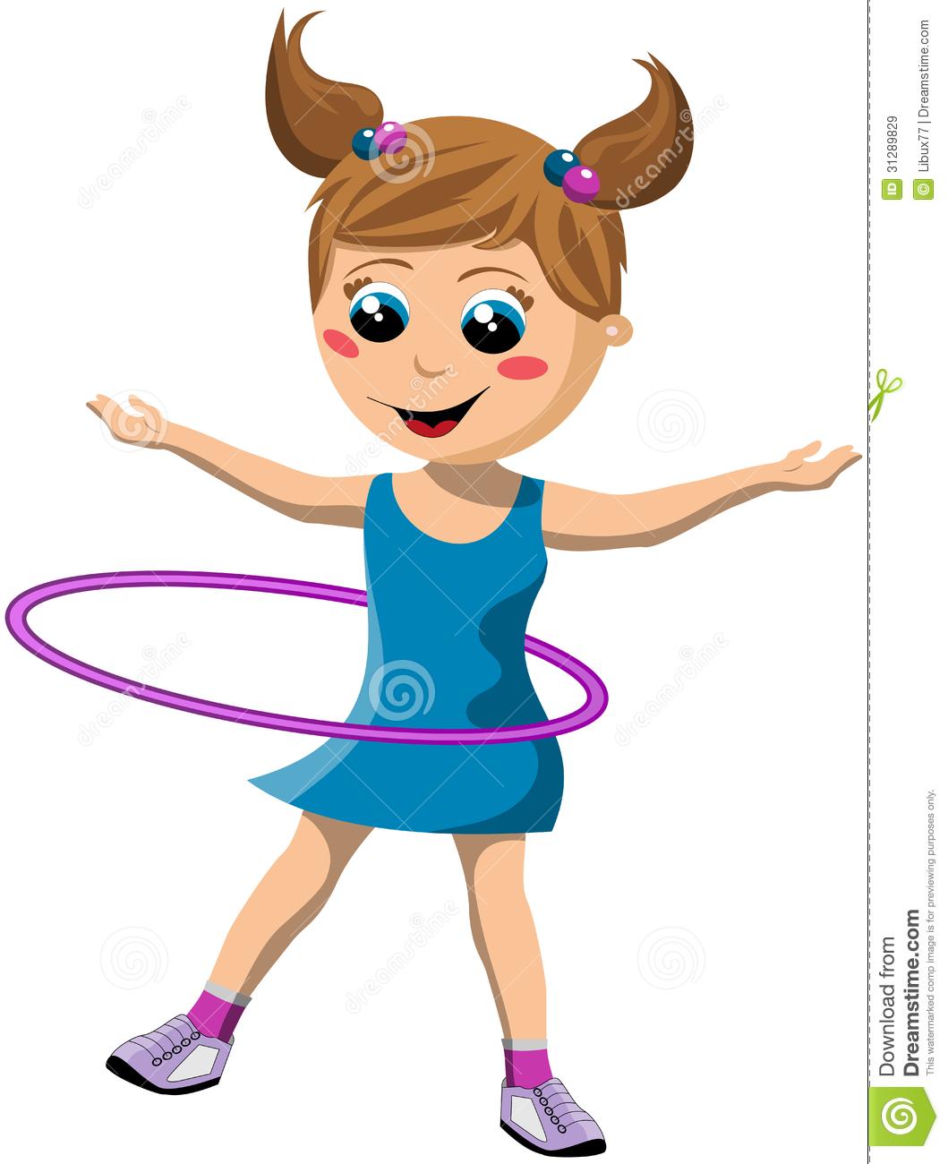 Kids twirling clipart.