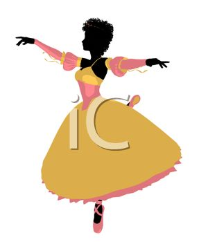 Picture of a Ballet Dancing In the Middle of a Twirl In a Vector.