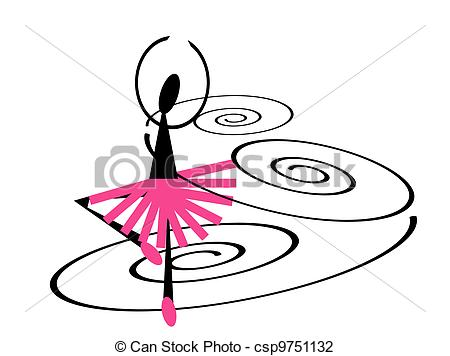 Clip Art of Ballet dancer.