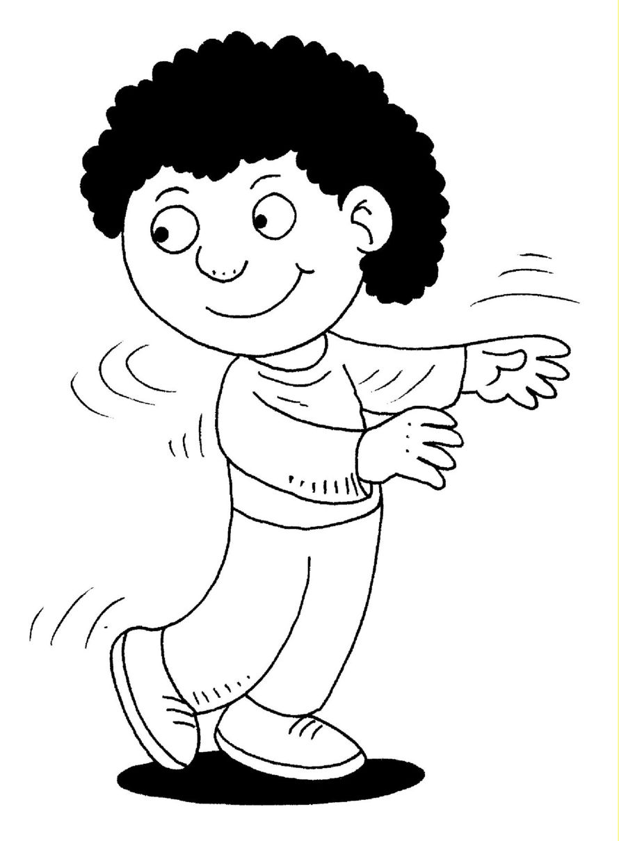 Kids twist clipart black and white.