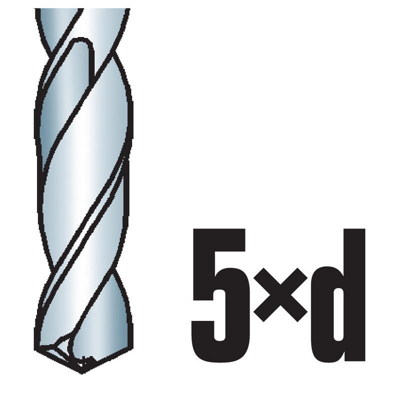 Solid carbide twist drill bit DIN 338 ty. N.