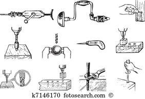 Twist drill Clipart EPS Images. 21 twist drill clip art vector.