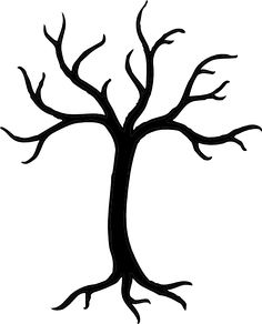 Tree silhouettes. Vector illustration..