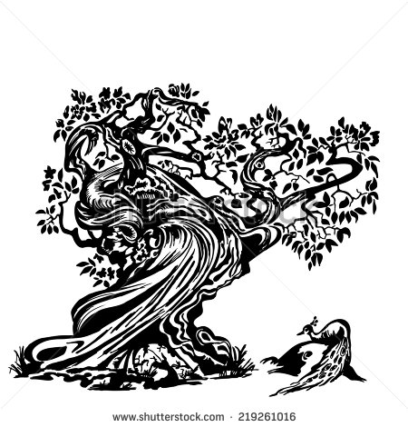 Twisted Tree Stock Images, Royalty.