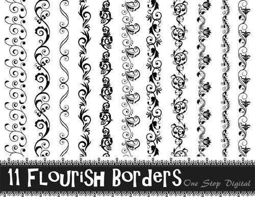 Black flourish.