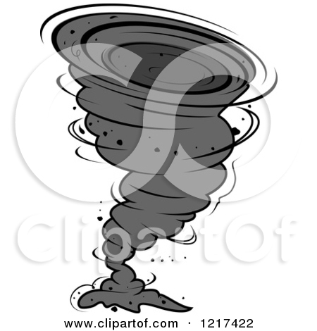 Clipart of Cartoon Twister Tornado Characters.