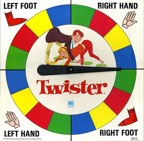 Twister board game clipart.