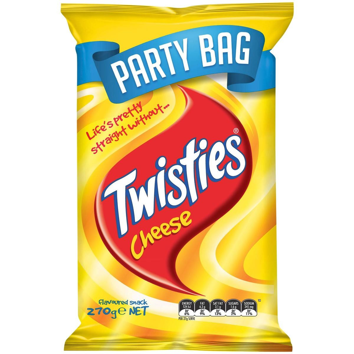 Twisties Cheese Party Bag 270g.