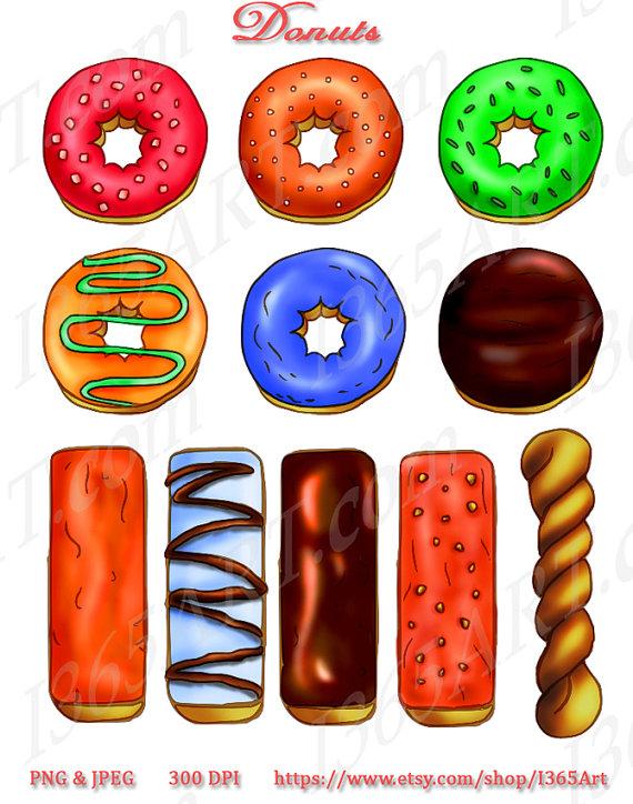 Twist Donut Clipart.
