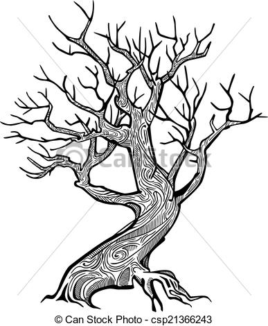 Old tree branch clipart.