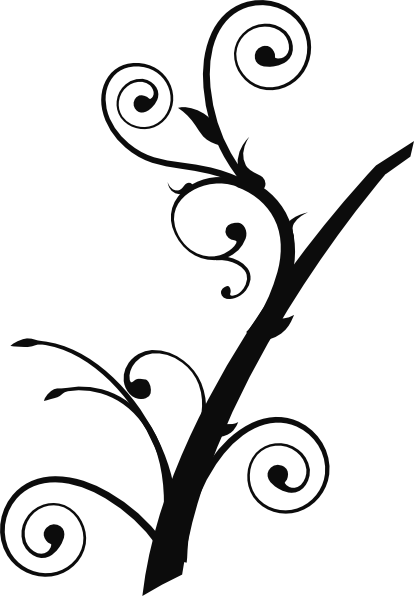 Twisted Branch clip art Free Vector / 4Vector.