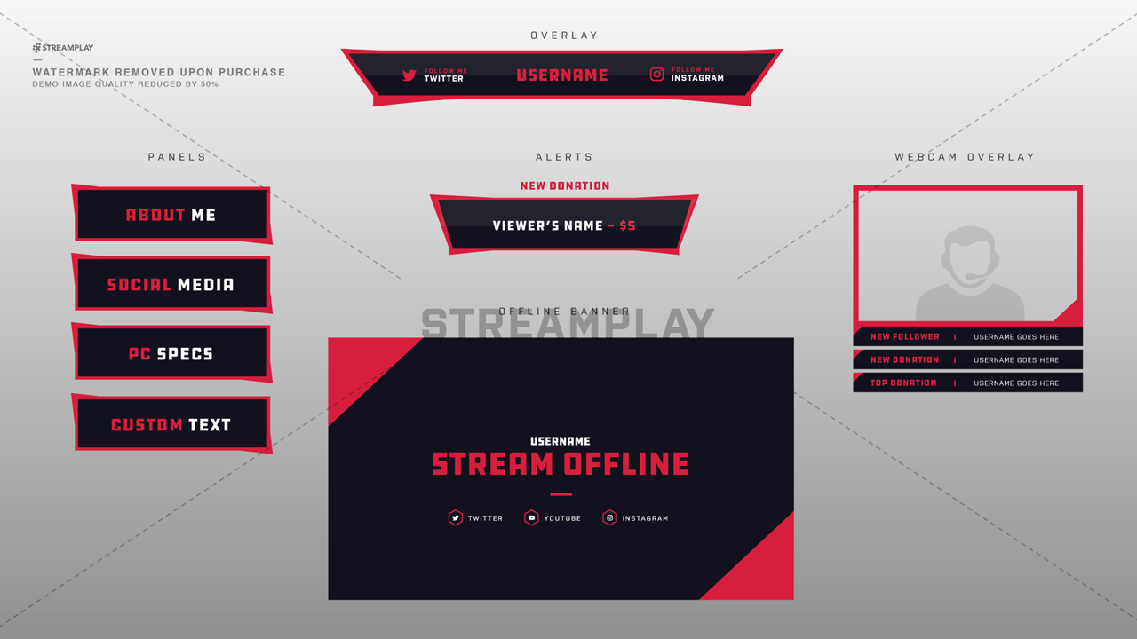 Twitch Offline Banners.