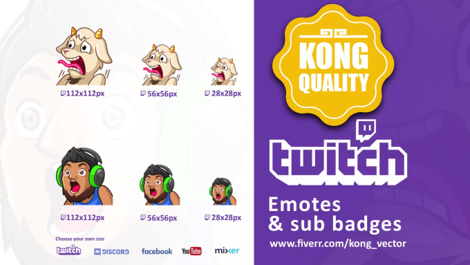 create express custom twitch emotes,sub badges.