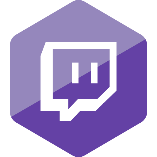 gamer hexagon media social social media twitch icon.