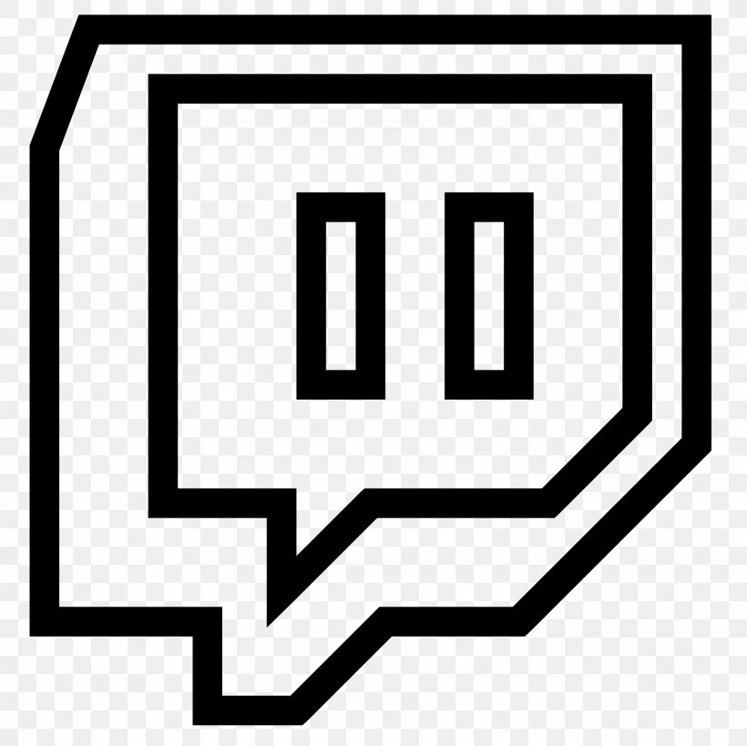 Twitch Logo, PNG, 1600x1600px, Twitch, Area, Black And White.