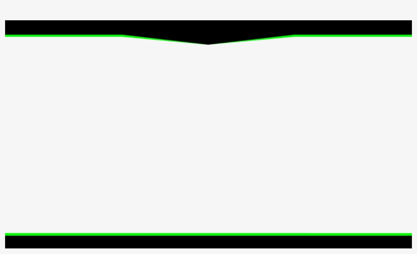 Twitch Overlays Green And Black Overlay Vector Transparent.