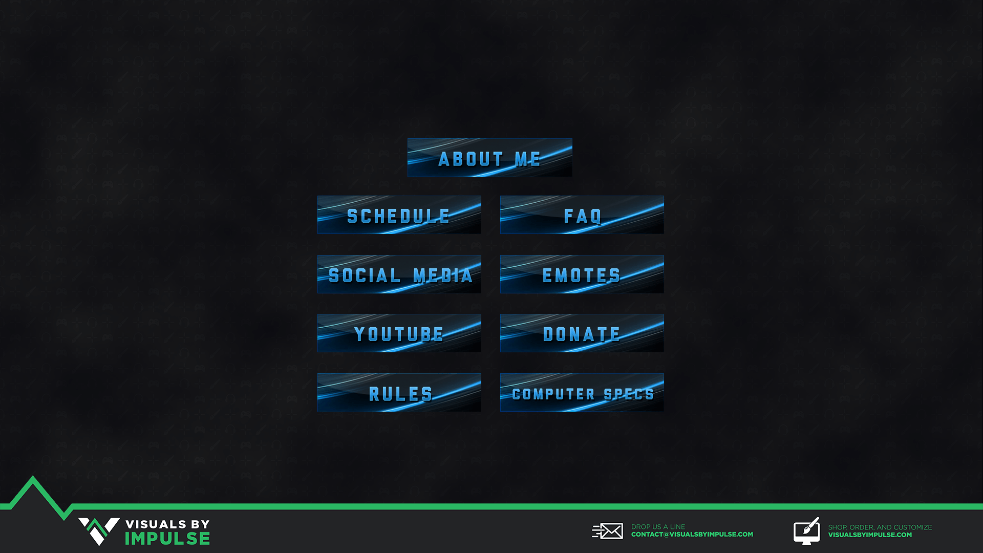 Blue Abstract Twitch Panels.