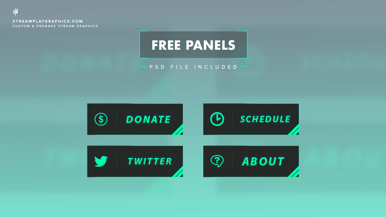 Simple Twitch Panels.