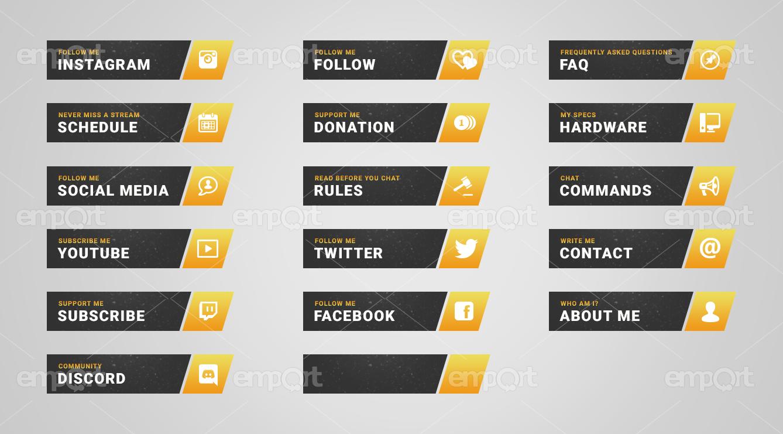 Berserker Yellow Twitch Panels.