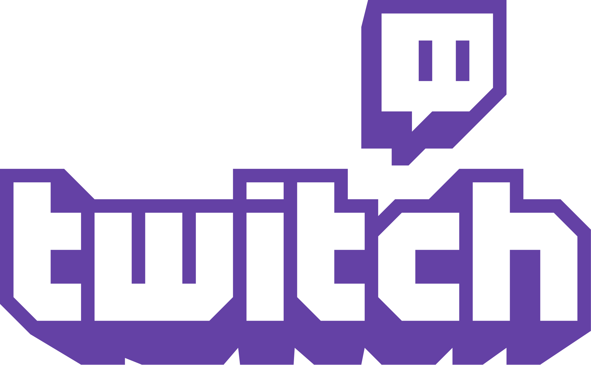 Twitch Text Logo transparent PNG.