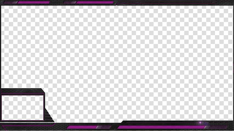 Free Stream overlays Hexalove, purple and black border.