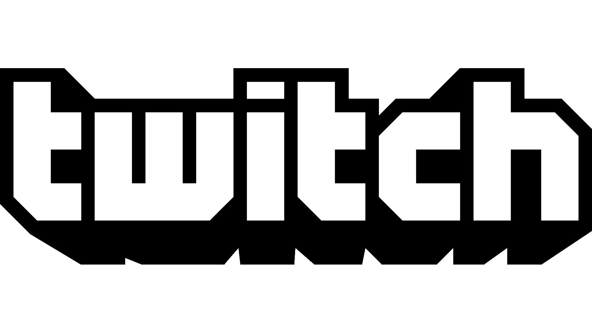 Black and white Logo Twitch.tv.