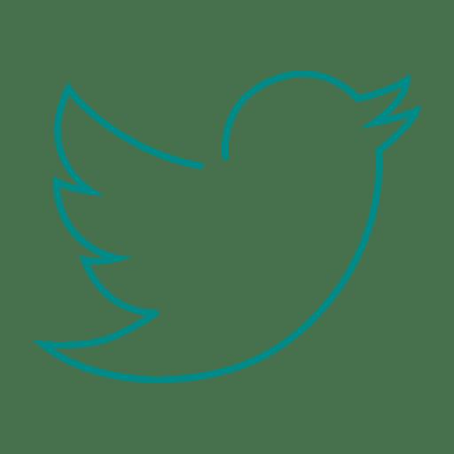 Blue twitter bird line icon.svg.