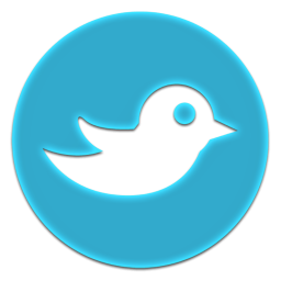 Twitter Circle Icon, PNG ClipArt Image.