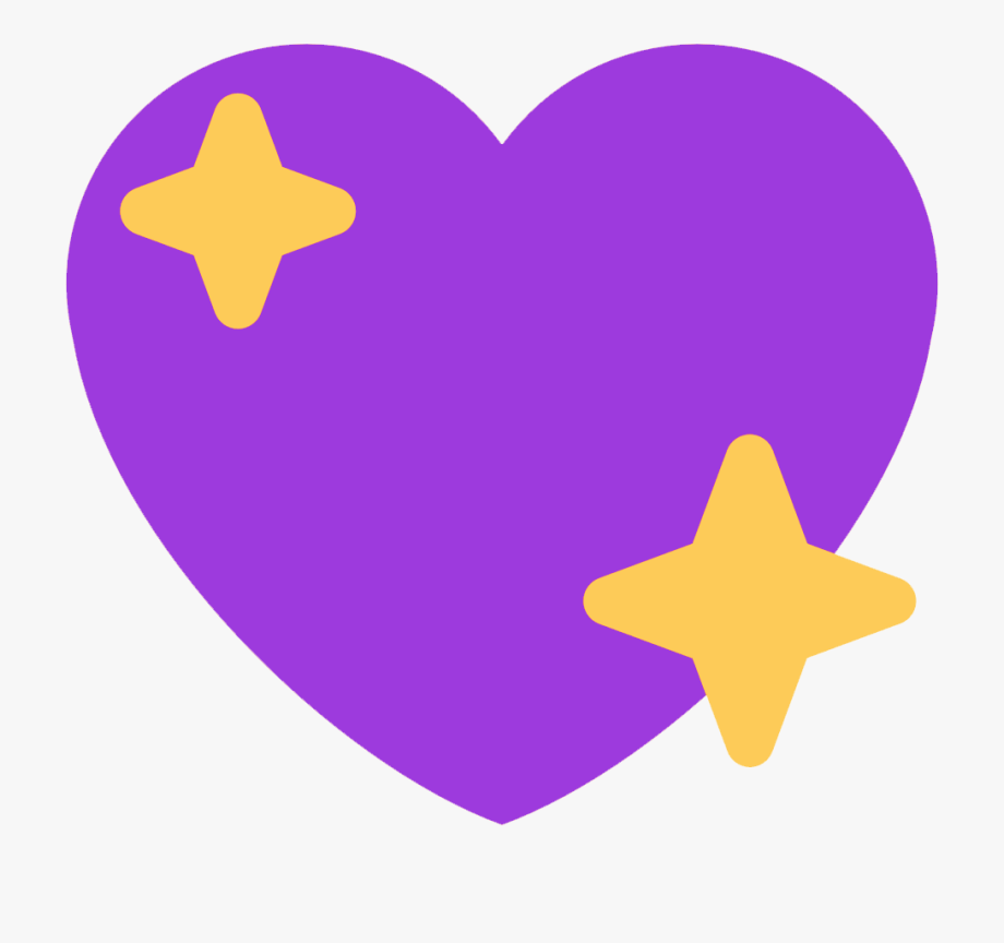Purple Sparkling Heart.