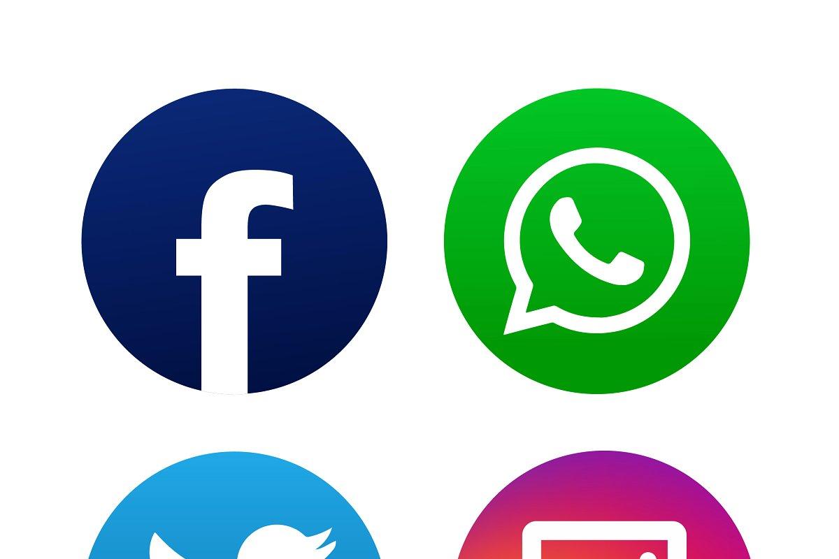 instagram facebook logo #3