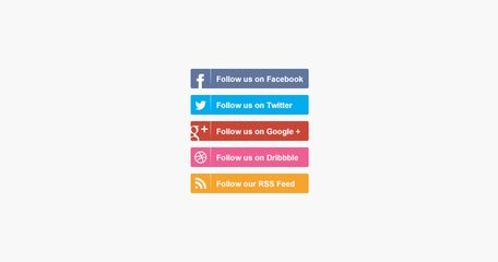 Social Media Follow Buttons Clipart Picture Free Download.